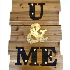 Rustic Reclaimed Wood Marquee Wall Sign
